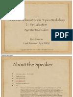 Solaris 10 Administration Topics Workshop 2