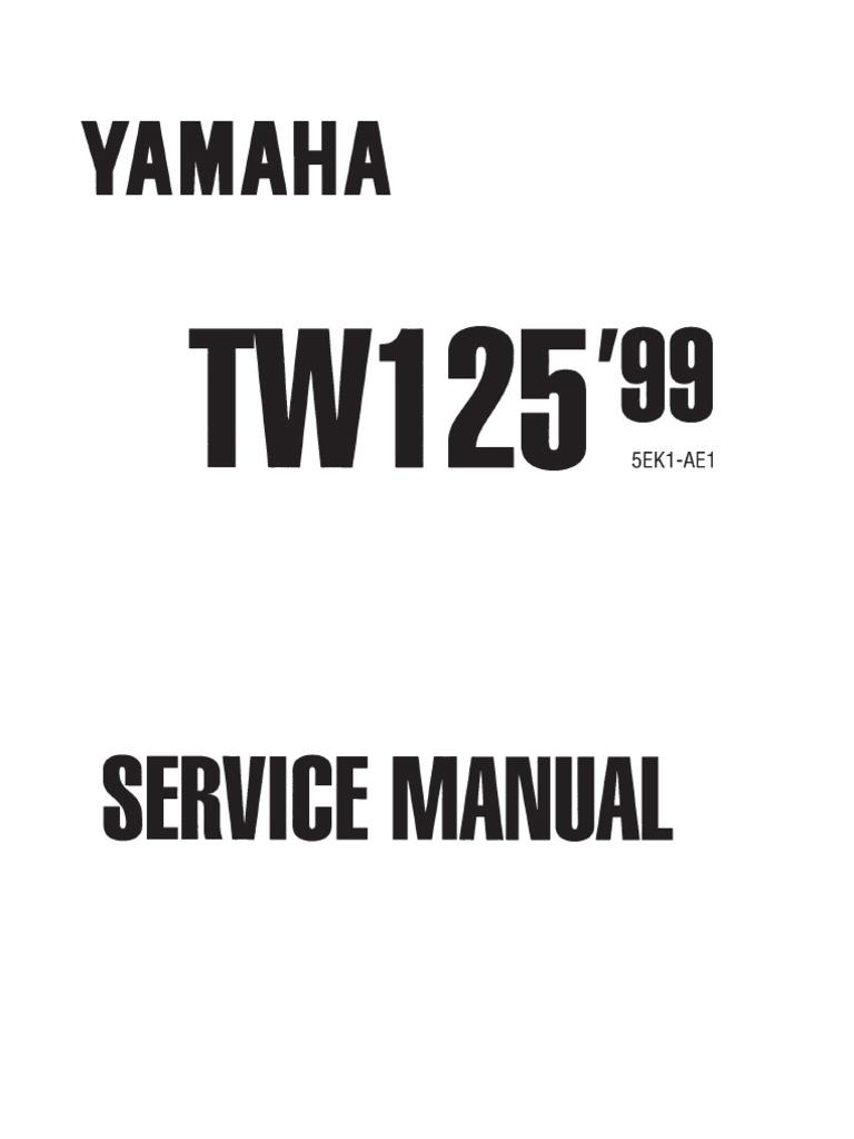 Yamaha Tw 125 Service Manual 1999 Screw Piston Tw200 Wiring Diagram