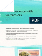 an experience with watercolors