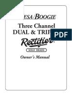 Manual Mesa/Boogie Dual/Triple Rectifier Versão Inglês/English