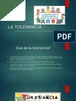LA TOLERANCIA Presentacion Filosofia