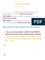 Vision and Goal Sheet