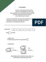 01025 Portugues Texto Elefante e Atividades