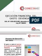 EJECUCION FINANCIERA Y Documentos Sustentatorios Para El Gasto