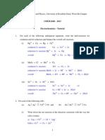 Tutorial 3 Electrochemistry - Answers
