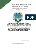 Relacion Codigo de Etica IFAC VRS IGCPA
