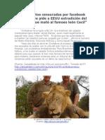 W. J. Palmer, El que mató al león. Nota y fotos censuradas por facebook