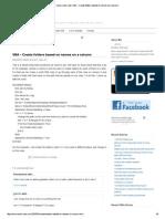 Create Folder From List
