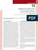 Chapter 12 - M ultifactorial Inheritance and Complex Diseases