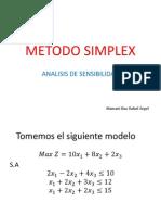 METODO SIMPLEX Analisis de Sensibilidad-Mamani Diaz