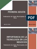 Sesión 1 Importancia de La Tecnología - M. Velarde