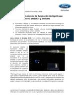 NP_Ford desarrolla sistema de iluminación que detecta personas y animales