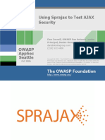Using Sprajax to Test AJAX Security