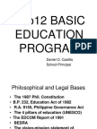 K to 12 Basic Education Program