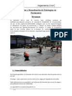 Remediación de Patologías en Pavimentos