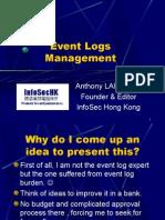 Event Logs Management InfoSecHK