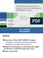 The Software Assurance Metrics and Tool Evaluation