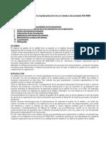 Metodología Para La Implementación de Un Sistema Documental ISO 9000