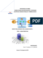 Ensayo Relacionado Con La Base de Datos - Tipos y Características