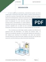 Informe #8 Electrolisis