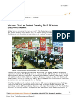 Vietnam Cited as Fastest Growing 2015 SE Asian Electronics Market