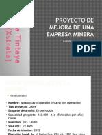 Proyecto de Mejora de Una Empresa Minera