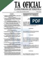 Sumario Gaceta Oficial 39.371