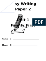 Unit 1 - Family First