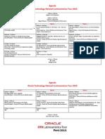 OTN Tour 2015 Agenda