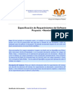 Especificacion de Requerimientos Del Software