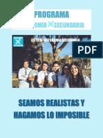 """PROGRAMA LISTA B """"Autonomía Secundaria"""""""