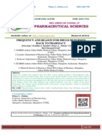 FREQUENCY AND REASON FOR DRUGS RETURNED BACK TO PHARMACY Alvin Jogy, Pratibha S.Kamble, Princy L.Palatty,Clafid Lobo,Ibel Chiramel Fredy1.research+article++final