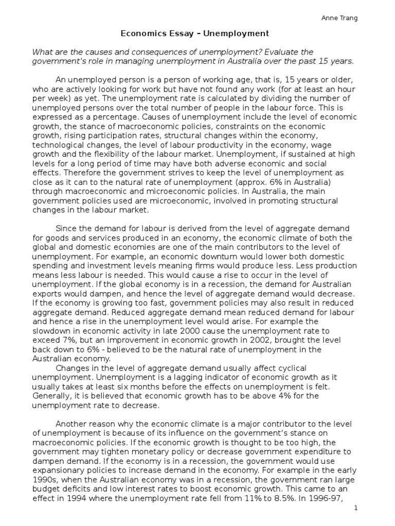 Essay english unemployment the flea and to his coy mistress essay