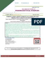 FORMULATION AND IN-VITRO EVALUATION OF FAST DISSOLVING TABLETS OF GEFITINIB Mohd.Mahboob,Shareef Amarah Khan,Mariya Khabita,Sayada Mahewish Ali,M.Suresh Babu