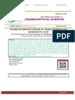 STUDIES OF PHYSICO-CHEMICAL CHARACTERISTICS OF RIVER BETWA (M.P) Gowher Hussain*, Mahesh Tharani, Altaf Hussain, Younus Ahmad