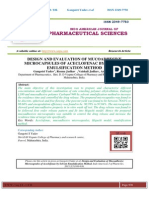 DESIGN AND EVALUATION OF MUCOADHESIVE MICROCAPSULES OF ACECLOFENAC BY SOLVENT EMULSIFICATION METHOD Gangotri Yadav*, Resma Jadhav , Vaishali Jadhav, Ashish Jain