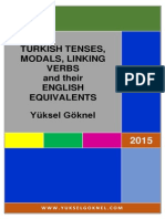 Turkish Tenses, Modals, Linking Verbs and Their English Equivalents, Yüksel Göknel-signed