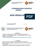 3 Centrais de Bombagem Para Serviço de Incendio(NT 15)
