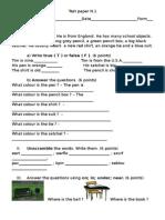 Test Paper n