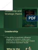Leadership and Strategi Planning