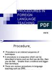 Procedures in Foreign Language Teaching