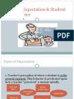 Teacher Expectation & Student Performance