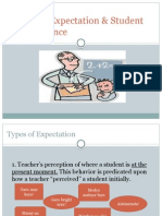 Teacher Expectation & Student Performance