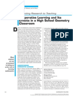 Cooperative Learning and Its Effects in a High School Geometry Classroom