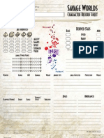 Savage Worlds - Character Sheet Color