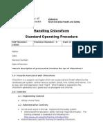 SOP for Handling Chloroform_tcm18-139804