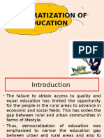 Democratization of Education