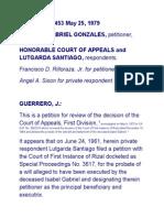 Gonzales vs CA