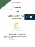 1. Proposal for 1 MW Solar Power Plant- Telangana.pdf