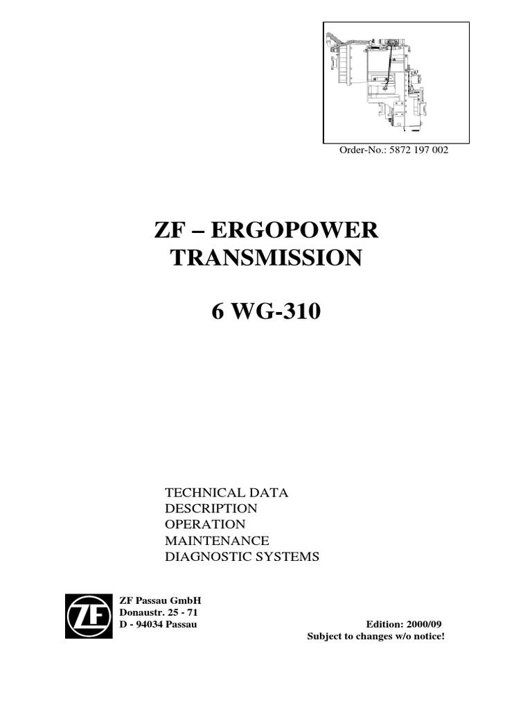5872 197 002 6 wg 310 pdf transmission mechanics rh scribd com Ford ZF Transmission Service Parts ZF 8 Speed Transmission